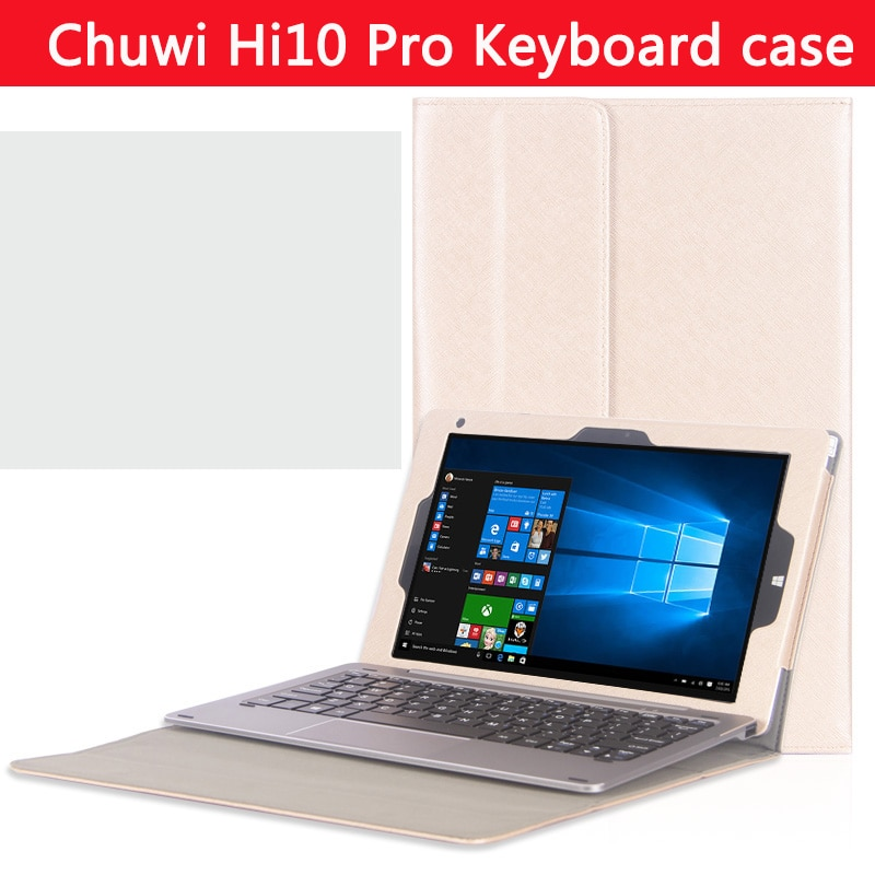Review Original High-quality Business  stand keyboard case For CHUWI HiBook Pro / HiBook /Hi10 Pro 10.1 inch Tablet PC