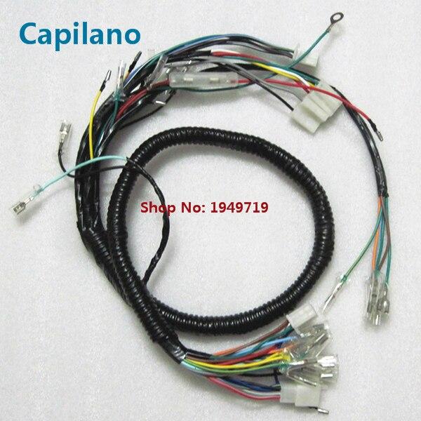 Motocicleta JH70 vehile toda linha de fio de cabo (partida elétrica) para Jialing JH 70cc 70 elétrica montagem completa de peças de reposição