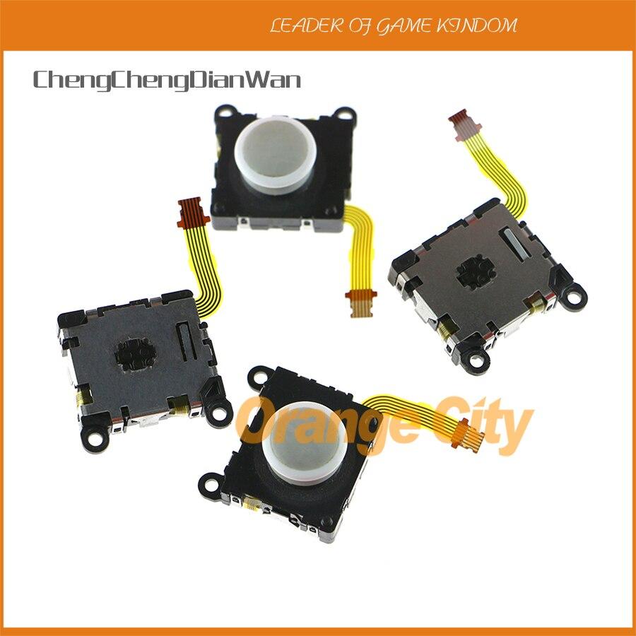 ChengChengDianWan الأصلي الأبيض ثلاثية الأبعاد التناظرية عصا التحكم زر المقود الروك الاستشعار وحدة ل Psvita1000 PSV 1000 5 قطعة/الوحدة