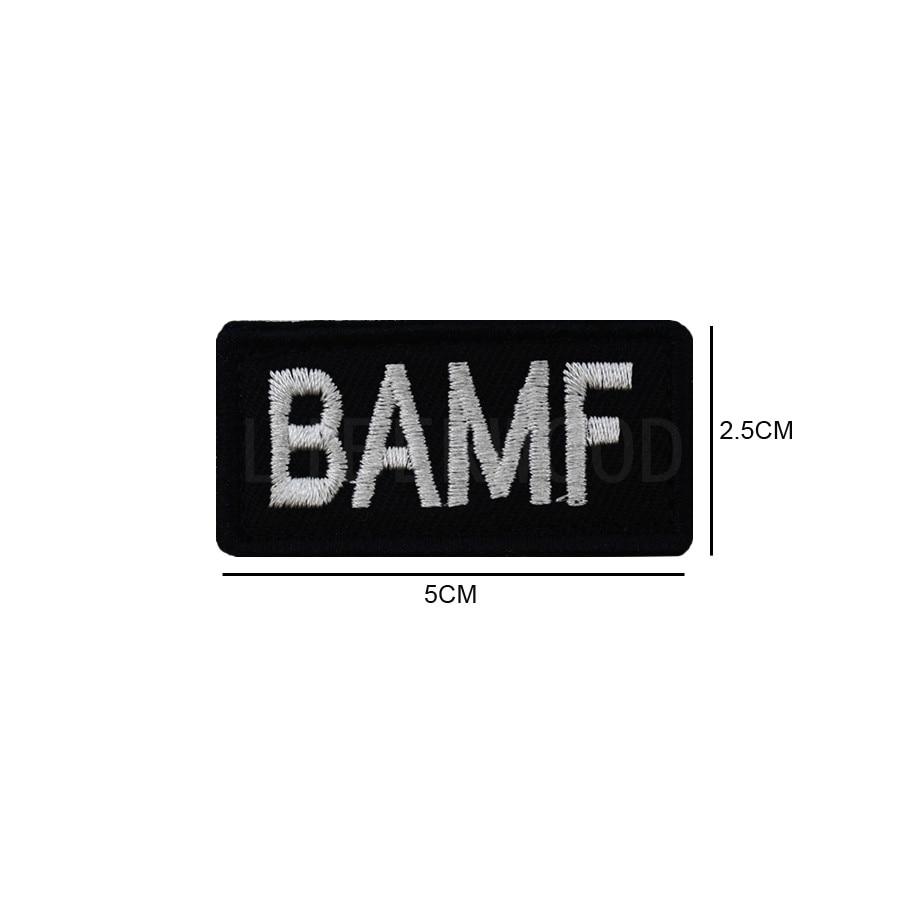 Tactical black BAMF Bad Ass Mother MUTHA FU KER Asshole hook loop morale bicker MC Patch Applique Badge Emblem