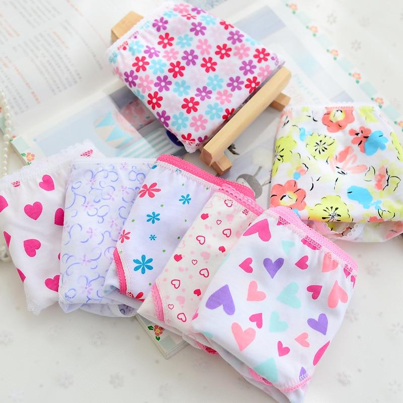5 unids/lote, nuevos colores de caramelo, mezcla de estilos, 100% de algodón estampado, ropa interior para niños para 2-12 años, bebé aTNN0085