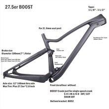 Cadre de VTT de fibre de carbone de vélos de Miracle 27.5er Plus cadre de VTT de carbone de Suspension complète, cadre de vtt de carbone de 27.5ER +