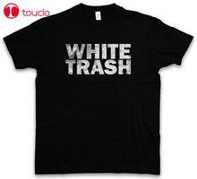 T-Shirt blanc poubelle-Hillbilly redcou hors-la-loi Usa amérique du sud Mobile Home sweat