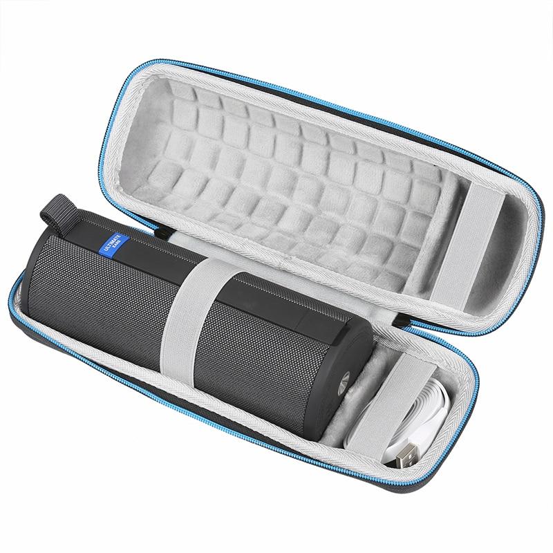 Nueva funda rígida para Logitech UE Ultimate Ears BOOM 3 Altavoz Bluetooth inalámbrico compatible con Cable USB y cargador bolsa de Altavoz Bluetooth
