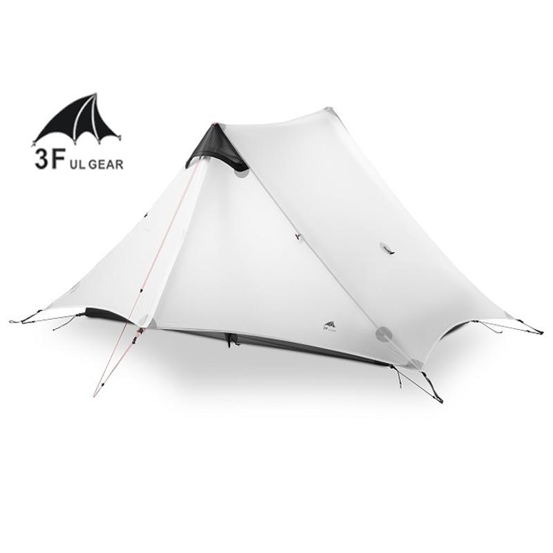 3f ul engrenagem lanshan 2 pessoa oudoor ultraleve barraca de acampamento 3 temporada profissional 15d silnáilon sem haste tenda