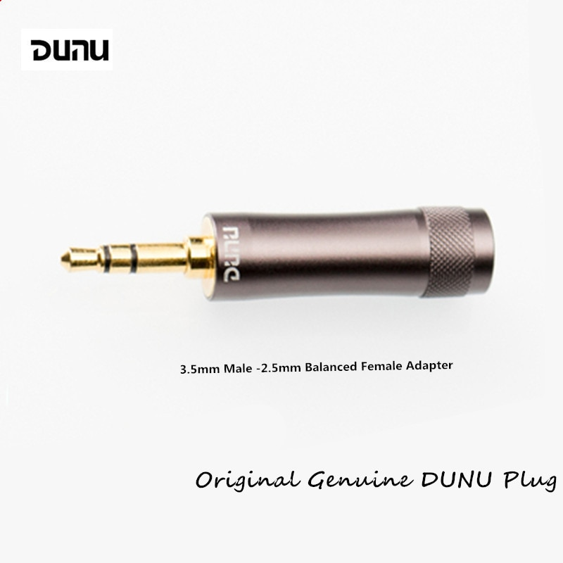 Original DUNU 3.5mm Single-ended Male -2.5mm Balanced Female Plug Adapter Earphones Balanced Interface Audio Plug DUNU DC11
