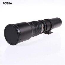 Teleobjetivo de 500mm F8.0 ENFOQUE DE Zoom Manual con anillo adaptador de montura T para lentes Canon Nikon Sony Pentax M4/3 cámaras DSLR