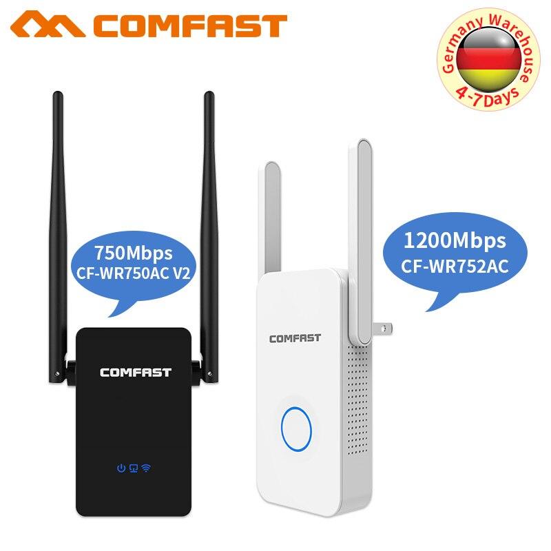 Repetidor/ENRUTADOR Wifi inalámbrico 750-1200 mbps 2,4G y 5,8G amplificador de señal de Wifi de doble banda AP amplificador de señal extensor de rango de red