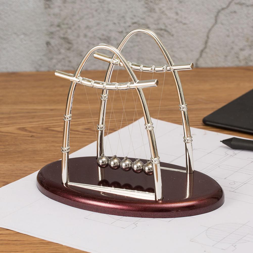 Pupitre educativo de desarrollo de diversión temprana, juguete de regalo de Newton, balancín de acero, Péndulo de ciencia física