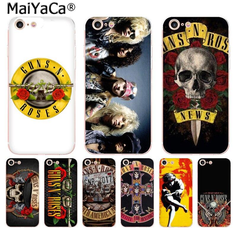Funda de teléfono de alta calidad MaiYaCa guns n roses para Apple iphone 11 pro 8 7 66S Plus X 5S SE XS XR XS MAX