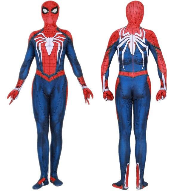 Insomniac ps4 Games Spiderman Cosplay Costume Zentai Spiderman Superhero Costume Bodysuit Suit Jumpsuits for Audlt/Kids