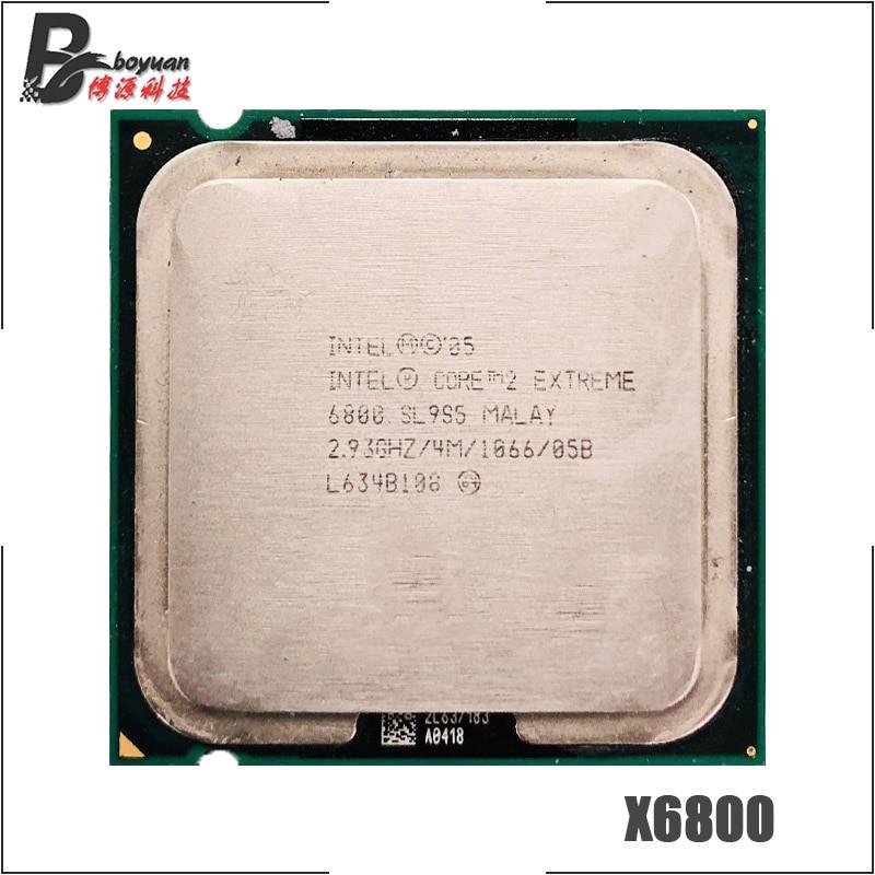 Procesador Intel Core 2 Extreme X6800 2.933 GHz Dual-Core Dual-Hilo de procesador de CPU 4M 75W LGA 775