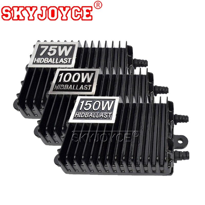 Bloques de balasto electrónico Digital SKYJOYCE 12V 75W 100W 150W AC para luz de xenón H1 H3 H7 H11 9005 9006 bombilla de Xenón HID