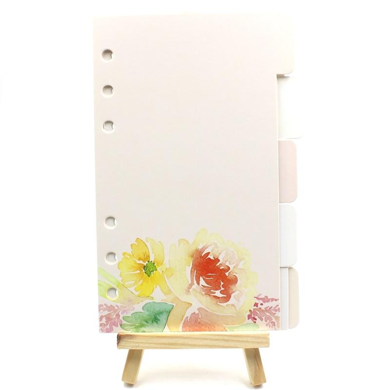 KSCRAFT 6 Holes A6 Hello Spring Planner Divider Loose Leaf Notebook Spiral Planner Refill Inner Paper Pages