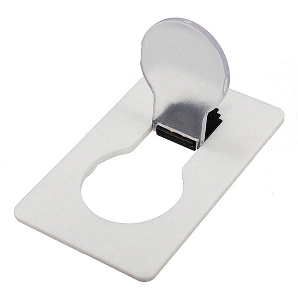 Minibilletera CLAITE para bolsillo, tamaño de tarjeta de crédito, lámpara de luz nocturna LED portátil, bombillas bonitas, tarjeta de papel, luz Flash