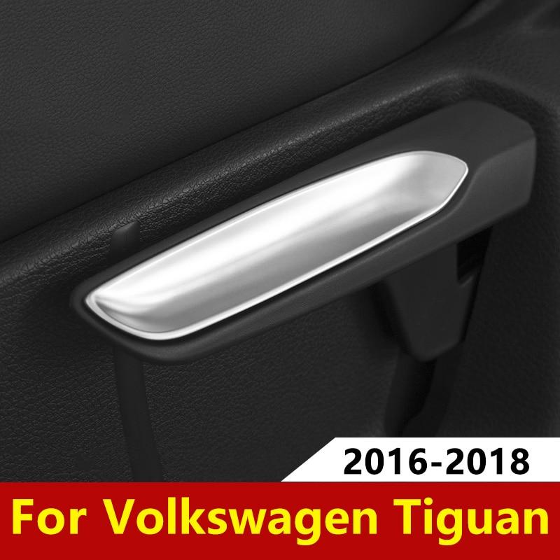 Asiento de coche ajuste funda de llave de ajuste lentejuelas decorativas de ABS para Volkswagen VW Tiguan MK2 Touran Golf MK7 T-ROC T ROC 2017 de 2018