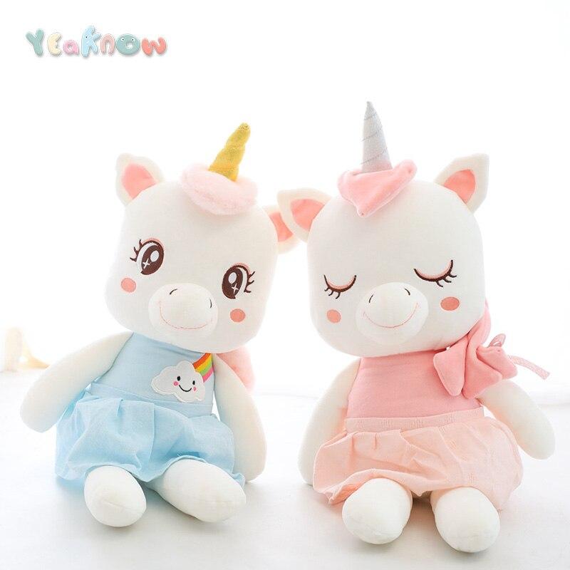 Yeaknow Cute Unicorn Stuffed Toys Soft Plush Dolls for Kids Toy Children Birthday Gift Girls Boys Unicorn Stuffed Dollfor Girl