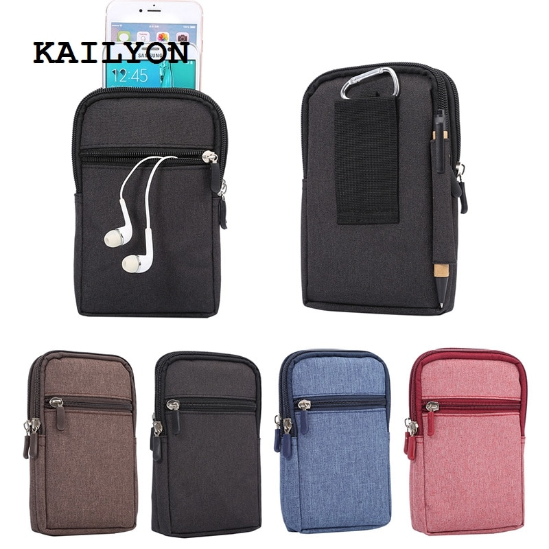 KAILYON para Highscreen Boost 3 SE Universal Denim cuero cintura gancho Loop deporte teléfono móvil bolsas para Highscreen Power Five EVO