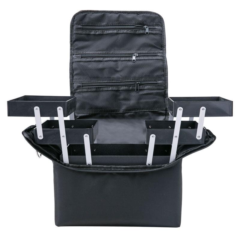 حقيبة سفر كبيرة السعة ، منظم مكياج نسائي ، حقيبة مستحضرات تجميل احترافية محمولة ، حقيبة طبقات