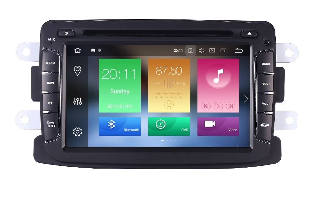 4g + 64g 7 polegada android 10 carro dvd player para renault dacia sandero duster lada xray 2 logan 2 4g wifi gps navegação rádio obd