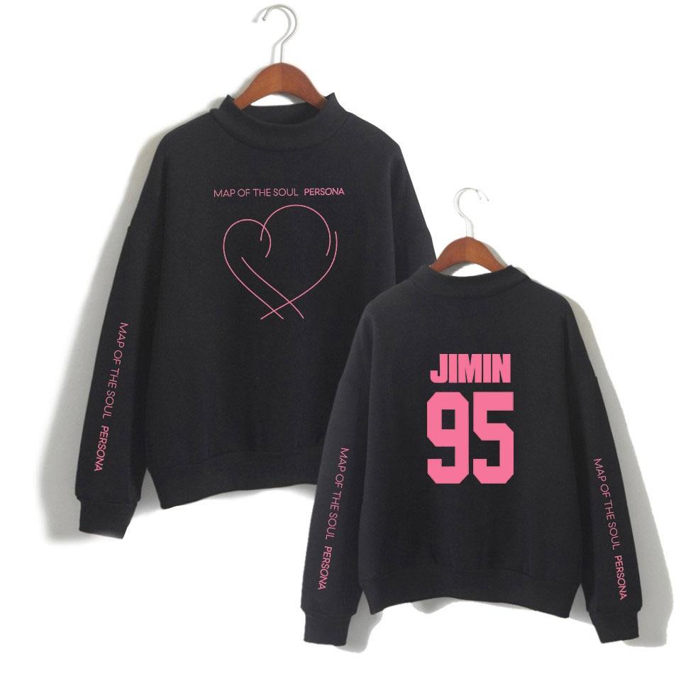 Jimin J-HOPE jung kook suga novo álbum mapa da alma persona impressão gola alta moletom feminino/masculino moda fina/lã roupas