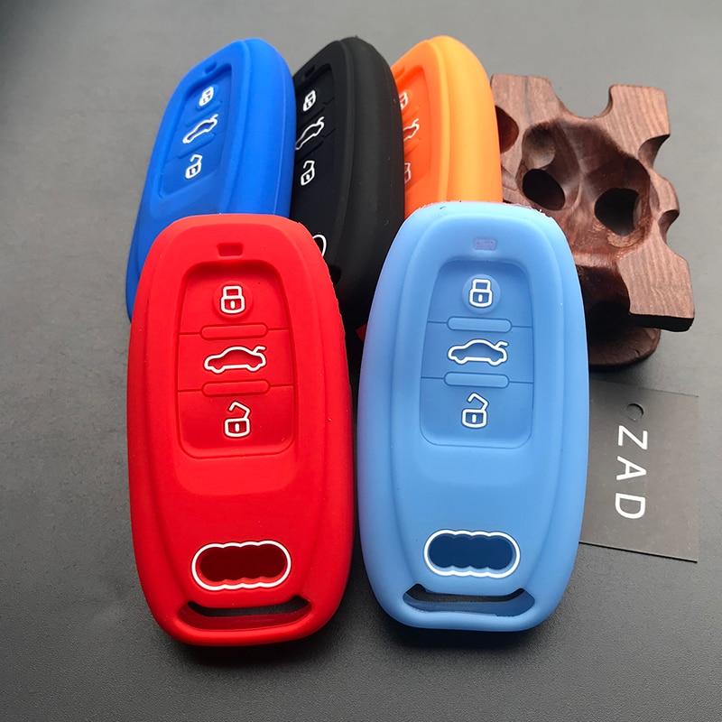 ZAD silicone key cover case shell holder protect for Audi A4 A5 A6 A7 A8 B6 B7 B8 Q5 Q7 R8 S5 S6 S7 S8 SQ5 RS5 TT smart keyless
