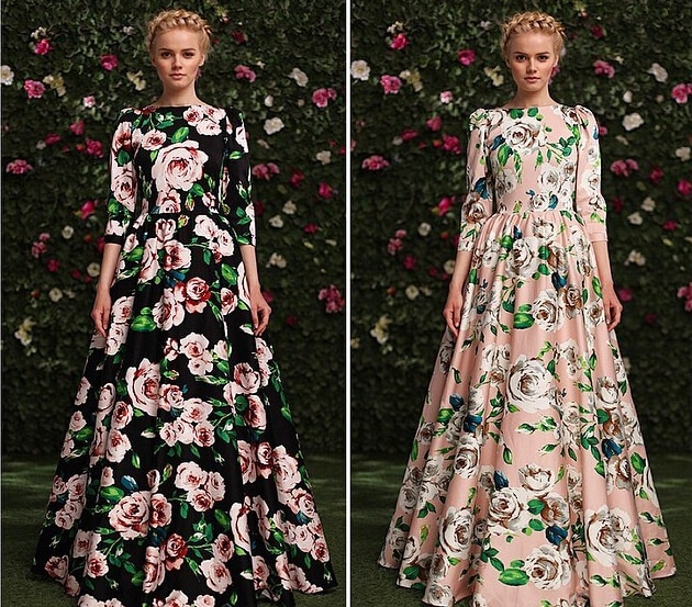 Verano otoño nueva moda mujer talla grande alta calle pista otoño 3/4 manga impresionante impreso vestido largo estampado Maxi vestidos