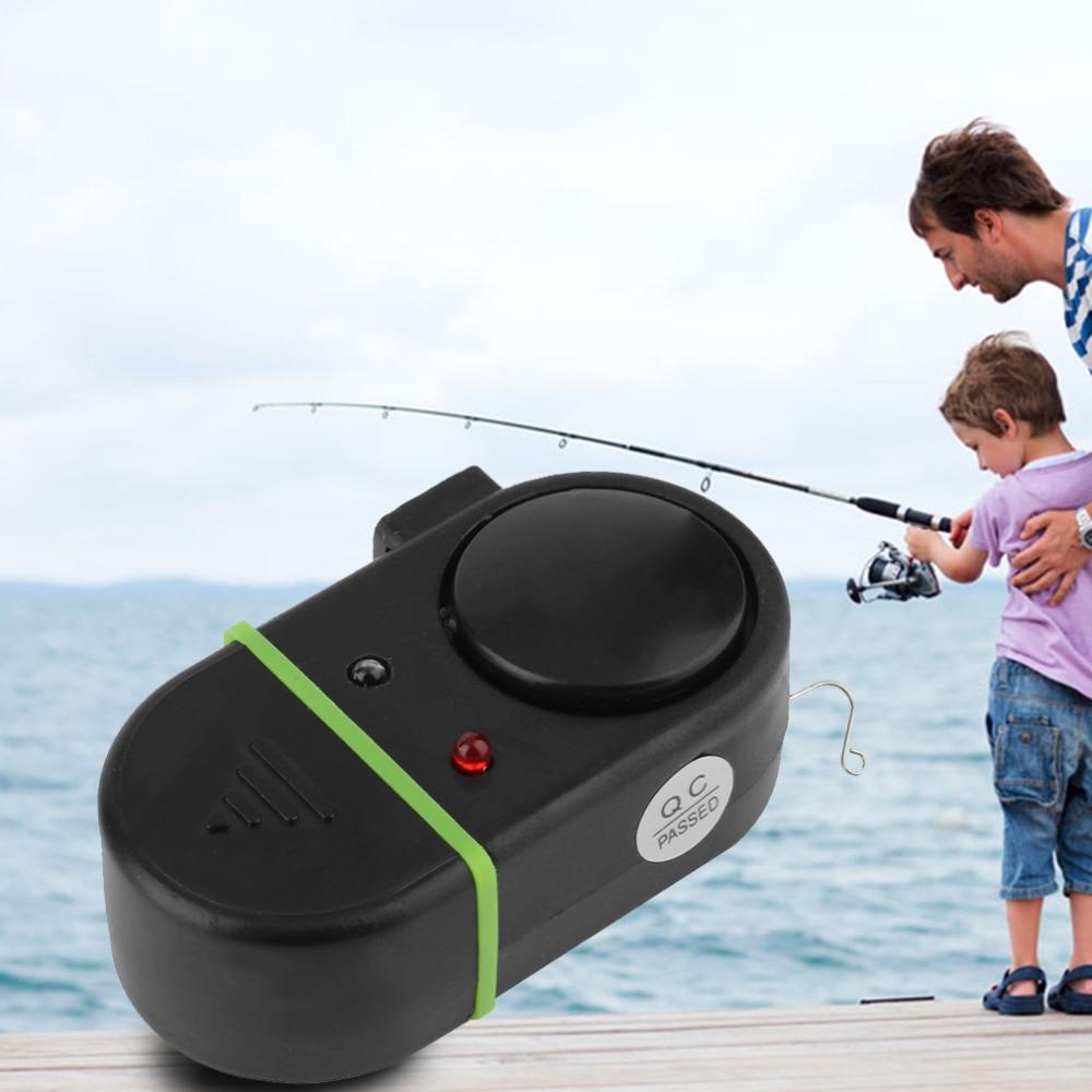 Electronic LED Light Fish Bite Sound Alarm Bell Clip On Fishing Rod  Hot