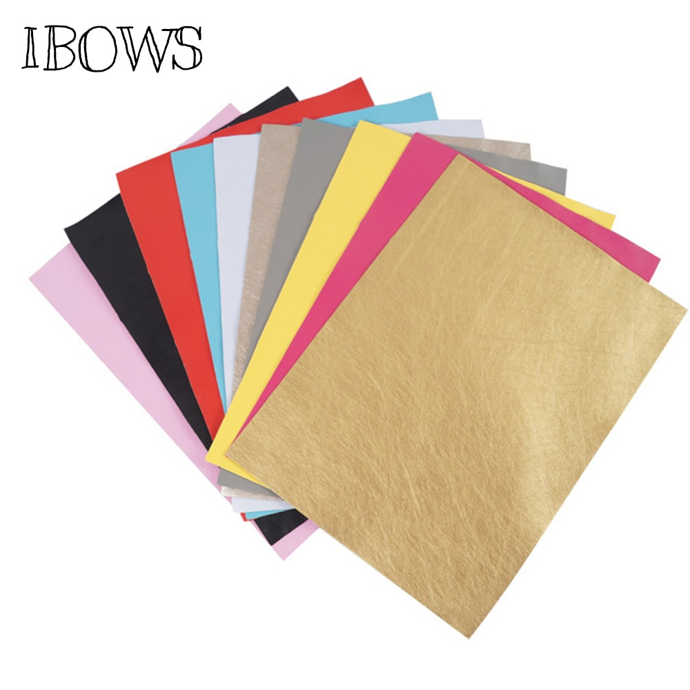 10pieces/pack 22CM*30CM  Soft Faux Leather Fabric Sheets -Metallic Foil Fabric Sheet Leather Fabric Material-DIY Hair Bows