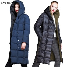 유럽 2018 겨울 자켓 여성 다운 재킷 여성 오리 다운 재킷 브랜드 여성용 겉옷 두꺼운 후드 파카