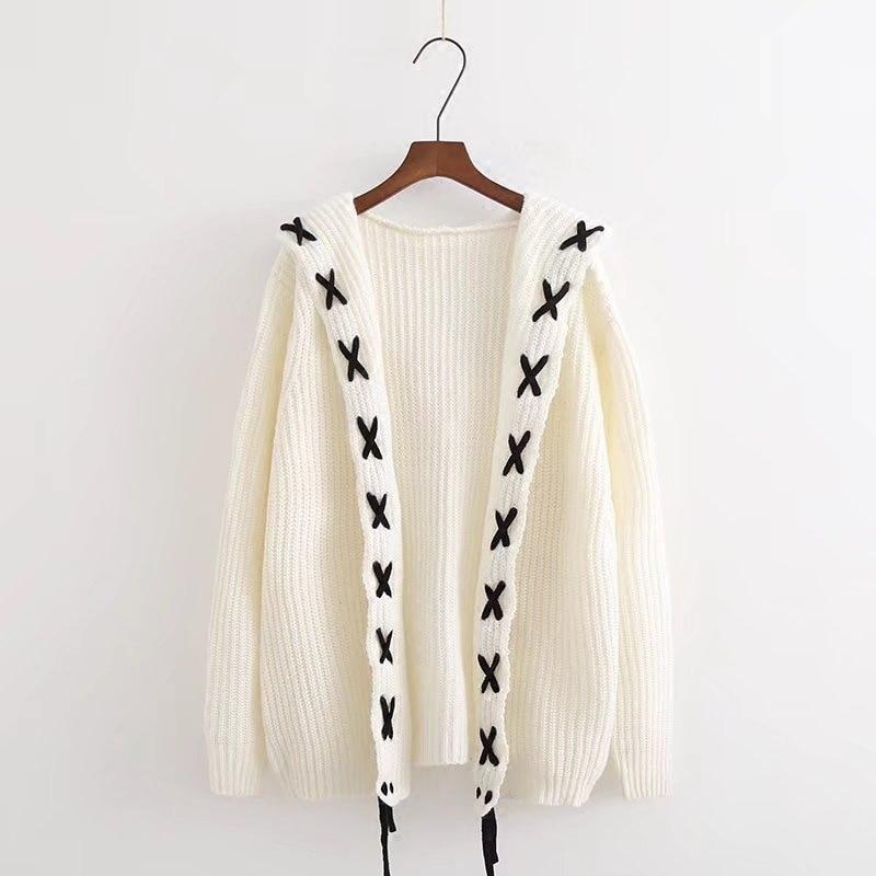 Suéter coreano de punto de manga larga para mujer, nuevo 2019, Rebeca gruesa para invierno, cárdigan Harajuku para mujer