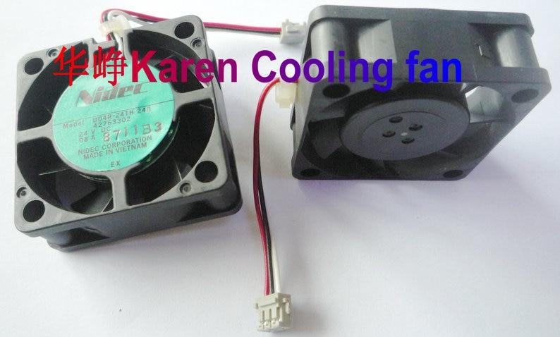 Nidec nuevo Original D04R-24TH 24B 4 CM 4015 24 V 0.08A 3 de ventilador de refrigeración 40*40*15 MM 24 V
