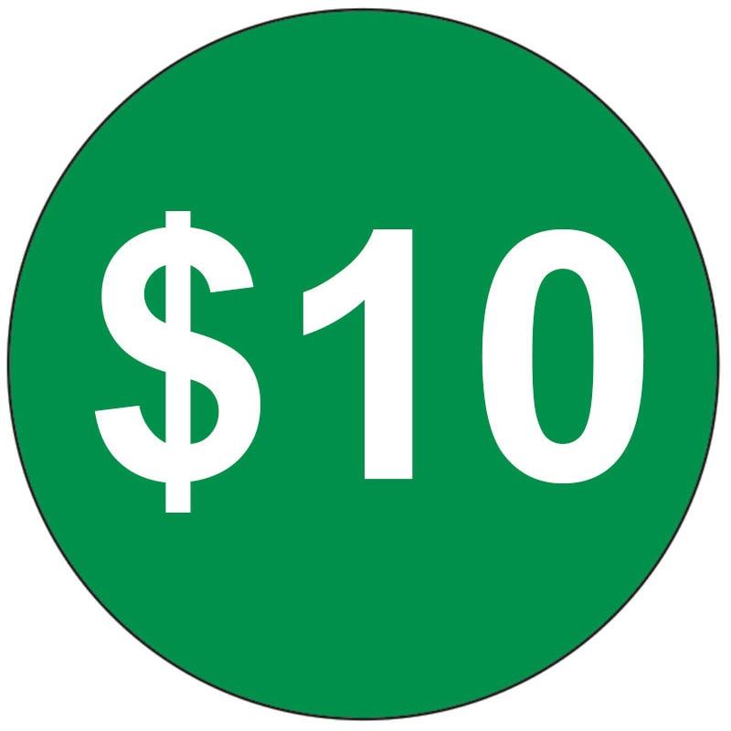 Дополнительная плата 10 долл. США/шт.