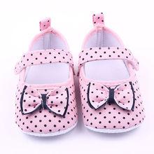 US STOCK été vente chaude chaussures Styles 0-12M semelle bébé fille chaussures anti-dérapant coton enfant en bas âge garanti 100cm doux Prewalker US