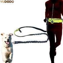 Ручная нейлоновая поясная собачья поводок с мешочком Регулируемый эластичный собачий спортивный поводок для бега поводок бег трусцой для ...