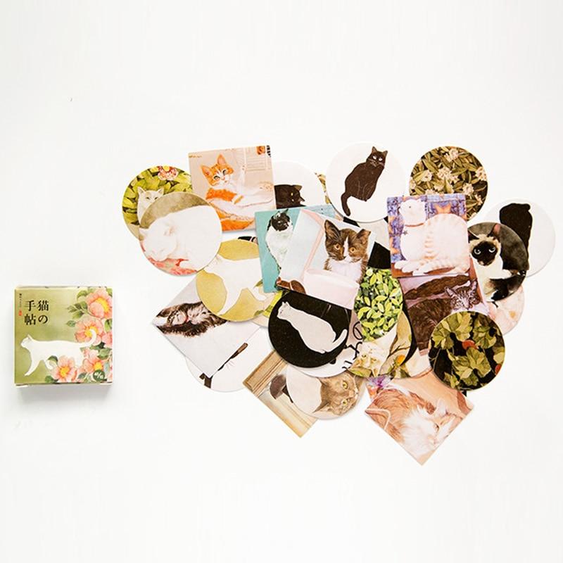 40pcs/pack cute Mini Cat Memo pad Stickers Posted It Kawaii Planner Scrapbooking  Stationery Sticker Escolar School Supplies