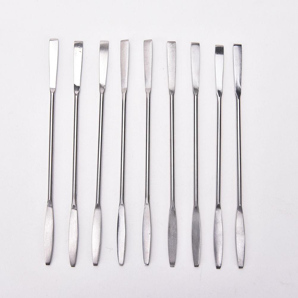 ¡Nuevo! 1 cuchara de acero inoxidable, paleta de mezcla de crema, espátulas, varilla, barra, maquillaje, cosmética, herramienta de Arte de uñas