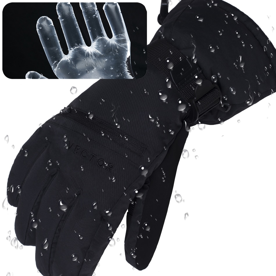 Экстра толстые лыжные перчатки для мужчин и женщин с сенсорным экраном теплые водонепроницаемые Лыжные Сноуборд снегоходы уличные зимние ...