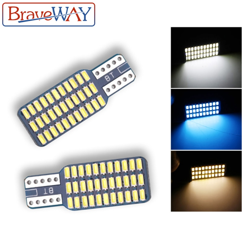 Bombilla LED de hielo BraveWay T10, para coche, CANBUS, sin Error, 12 V, luz superbrillante, blanco, azul hielo, cúpula de lectura, puerta de coche