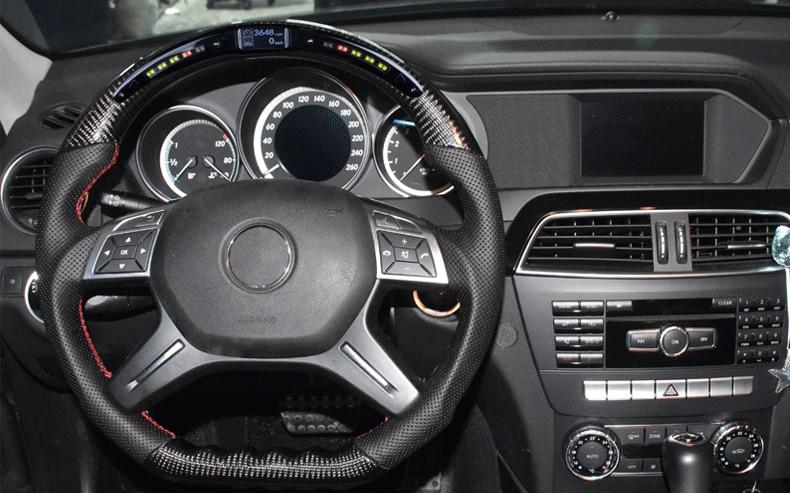 Fit voor Mercedes-Benz AMG C63 S63 G63 glc200L LED carbon fiber stuurwielen