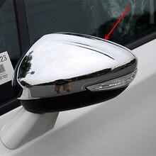 Ajuste del Stying del coche para Peugeot 508 2014-2018 puerta lado del espejo cubierta cromada cubierta de retrovisor trasero accesorios de coche envío gratis 2 uds