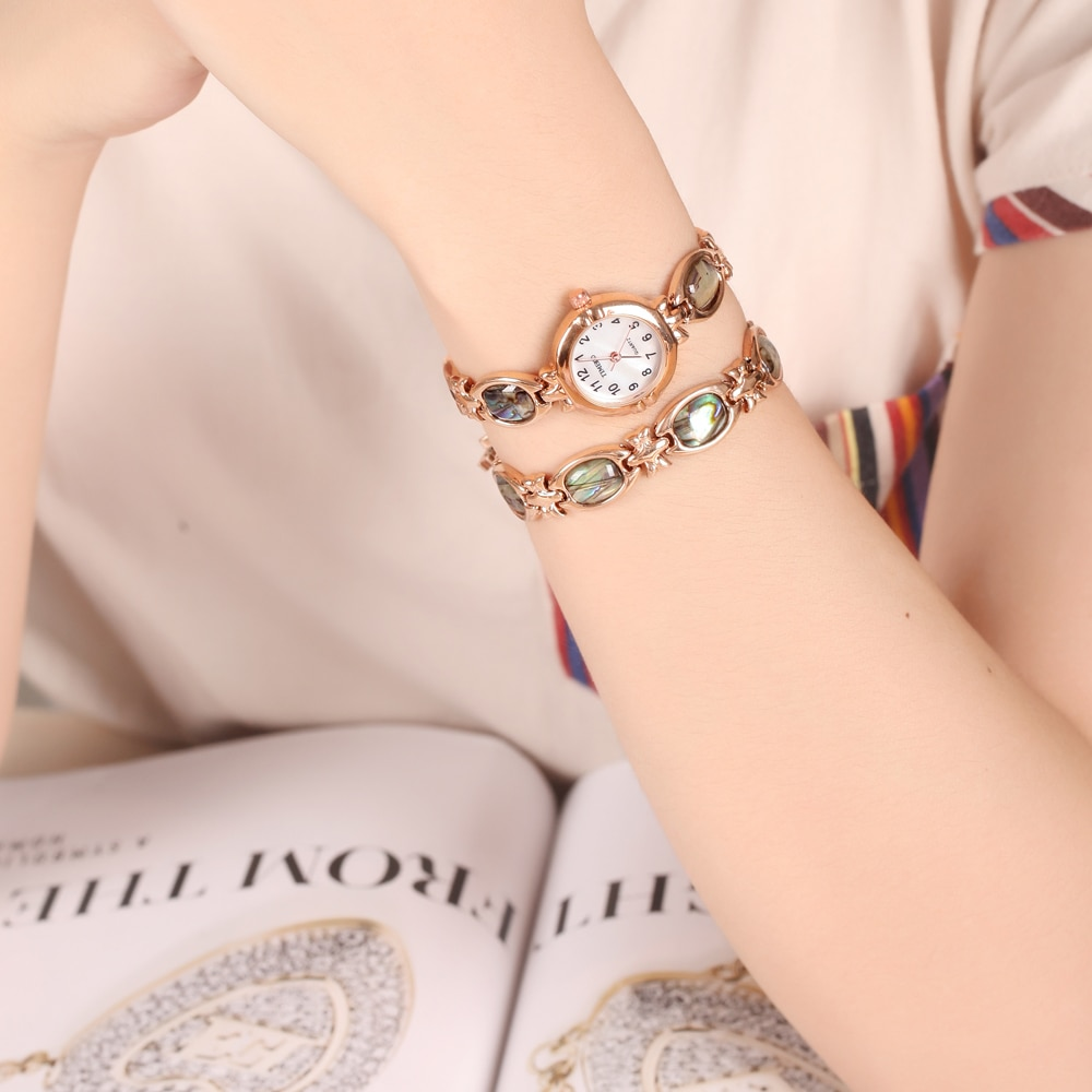 TIME100 Fashion Simple Women Bracelet Watches Waterproof Small Dial Abalone Bracelet Quartz Watches Ladies Wrist Watches Clock enlarge