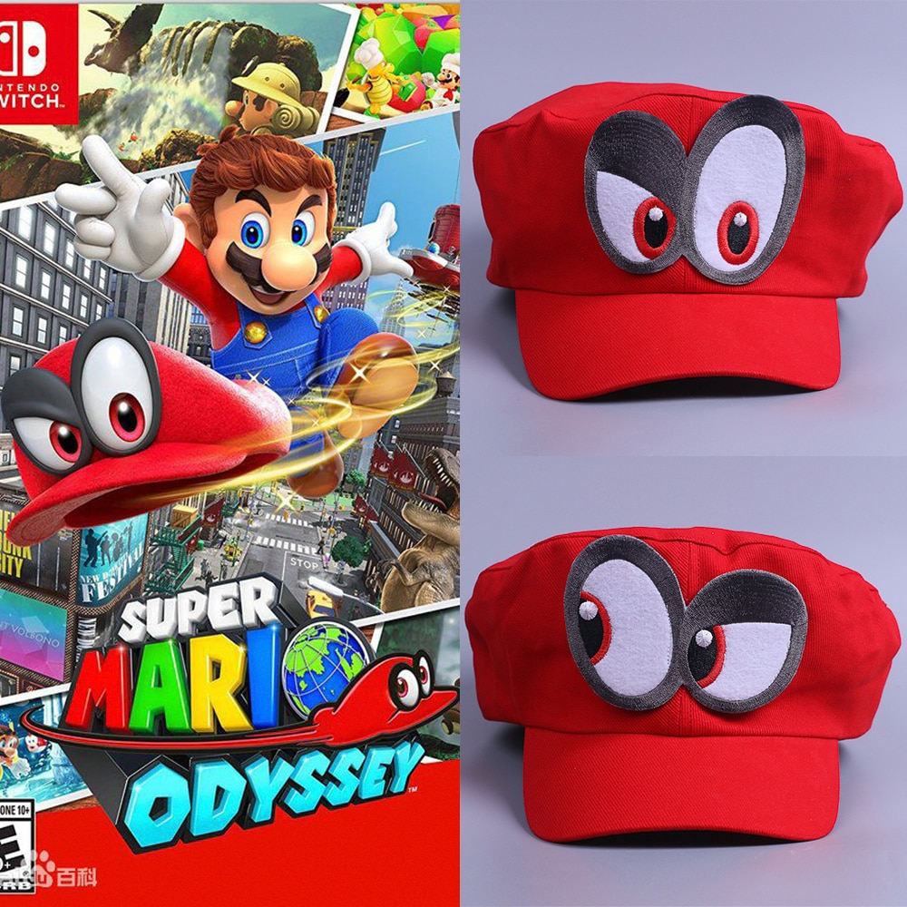 Odyssey do jogo Super Mario Chapéu Chapéu Mario Mario Tampas Adulto Crianças Anime Cosplay Cap Artesanal