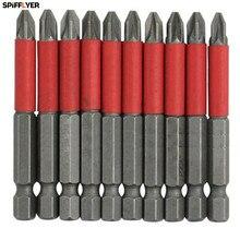 Nouveau 10 pièces POZI 2 PZ 2 tournevis embouts hexagonaux 50mm longue portée antidérapant