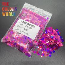 TCA900 Holographic Laser Dark Peach Color Hexagon Shape Nail Glitter Nail Decorations Nail Gel Makeup Facepaint DIY Accessorie