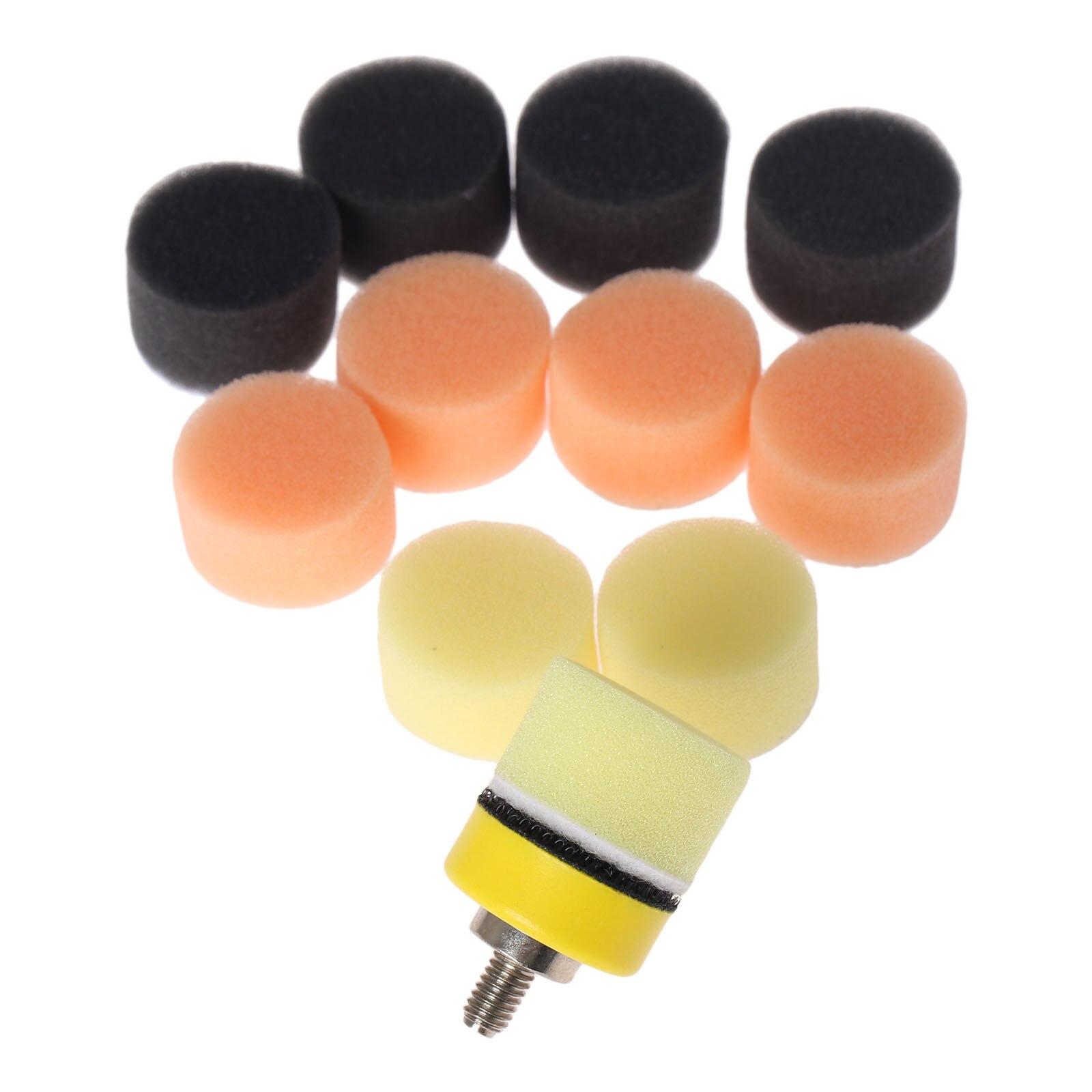 DRELD 50 Uds 1 pulgada 25mm esponja encerada almohadilla de pulido abrillantado para pulidor de coche M6 almohadilla de pulido Placa de respaldo para dremel herramienta rotativa
