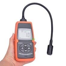 Détecteur numérique professionnel de gaz Combustible, écran LCD, 50 ~ 50000ppm, testeur de fuite de cétone avec capteur à col doie fin