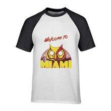 2018 mode bienvenue à la Hotline Miami Rasmus personnalisé à manches courtes T-shirts pour hommes Hipster plaine col rond coton T-shirts hommes