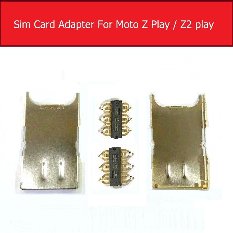 Prise de carte Sim pour Motorola Moto Z Play Droid XT1635 couvercle de plateau de carte SIM pour Moto Z2 Play XT1710 pièces de réparation de fente pour carte Sim