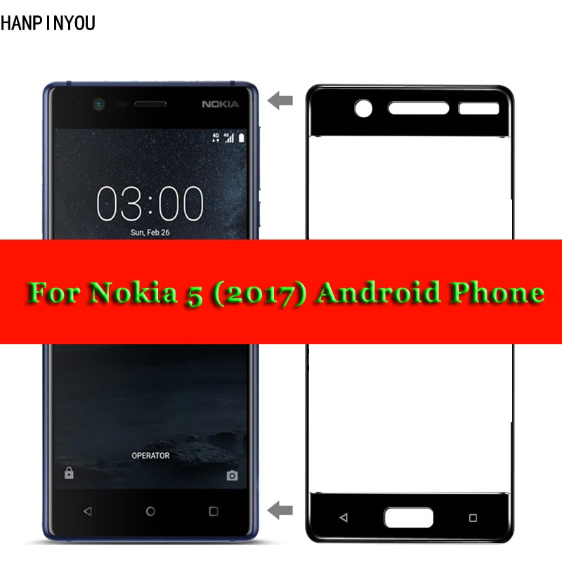 For Nokia 5 Full Coverage Tempered Glass 9H 2.5D Premium Screen Protector Film For Nokia 5 (2017) An